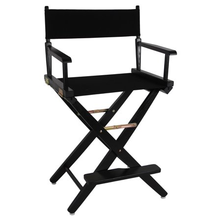 """Extra-Wide Premium 24"""" Directors Chair Black Frame W/Black Color Cover"""