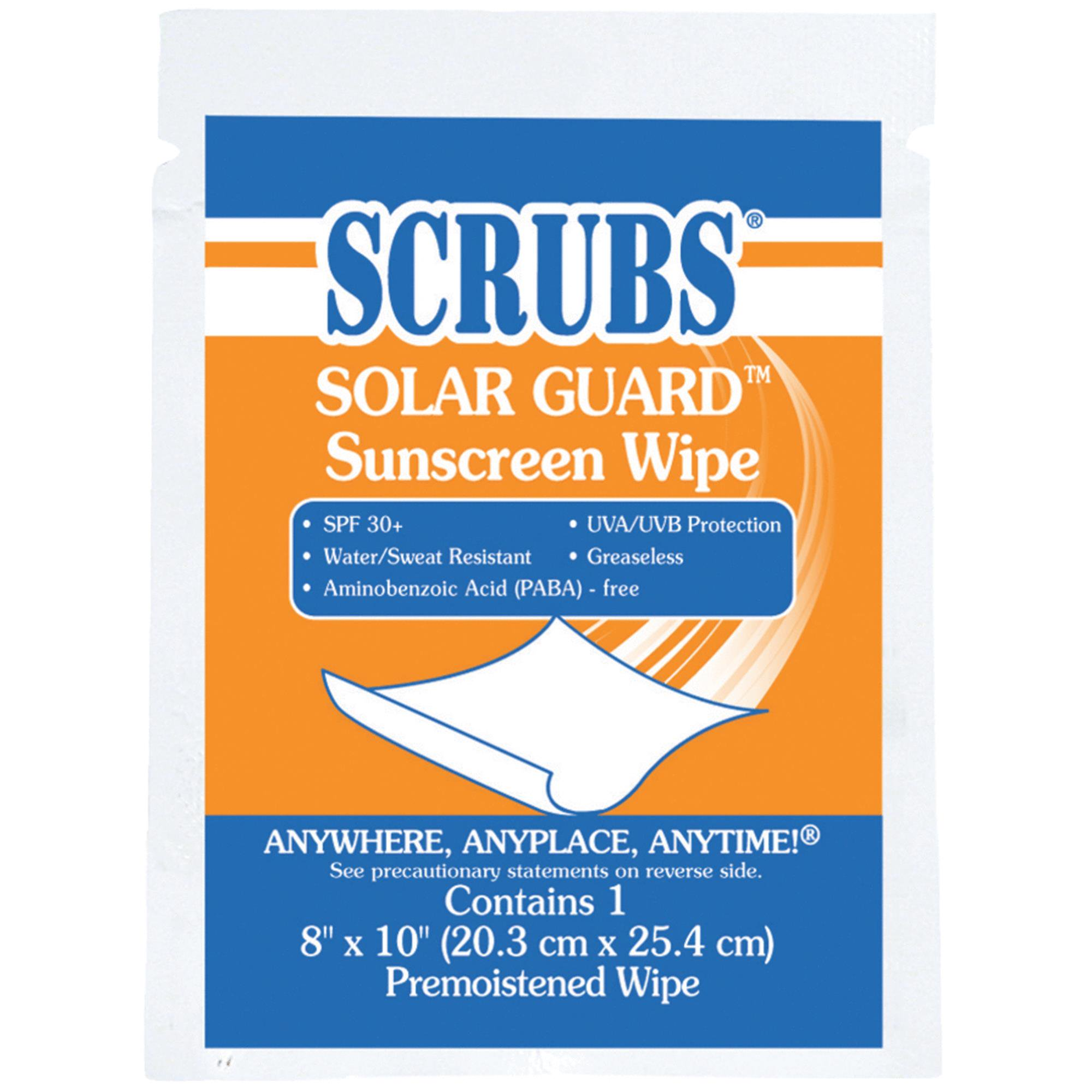 SCRUBS Solar Guard Sunscreen Towel Wipes