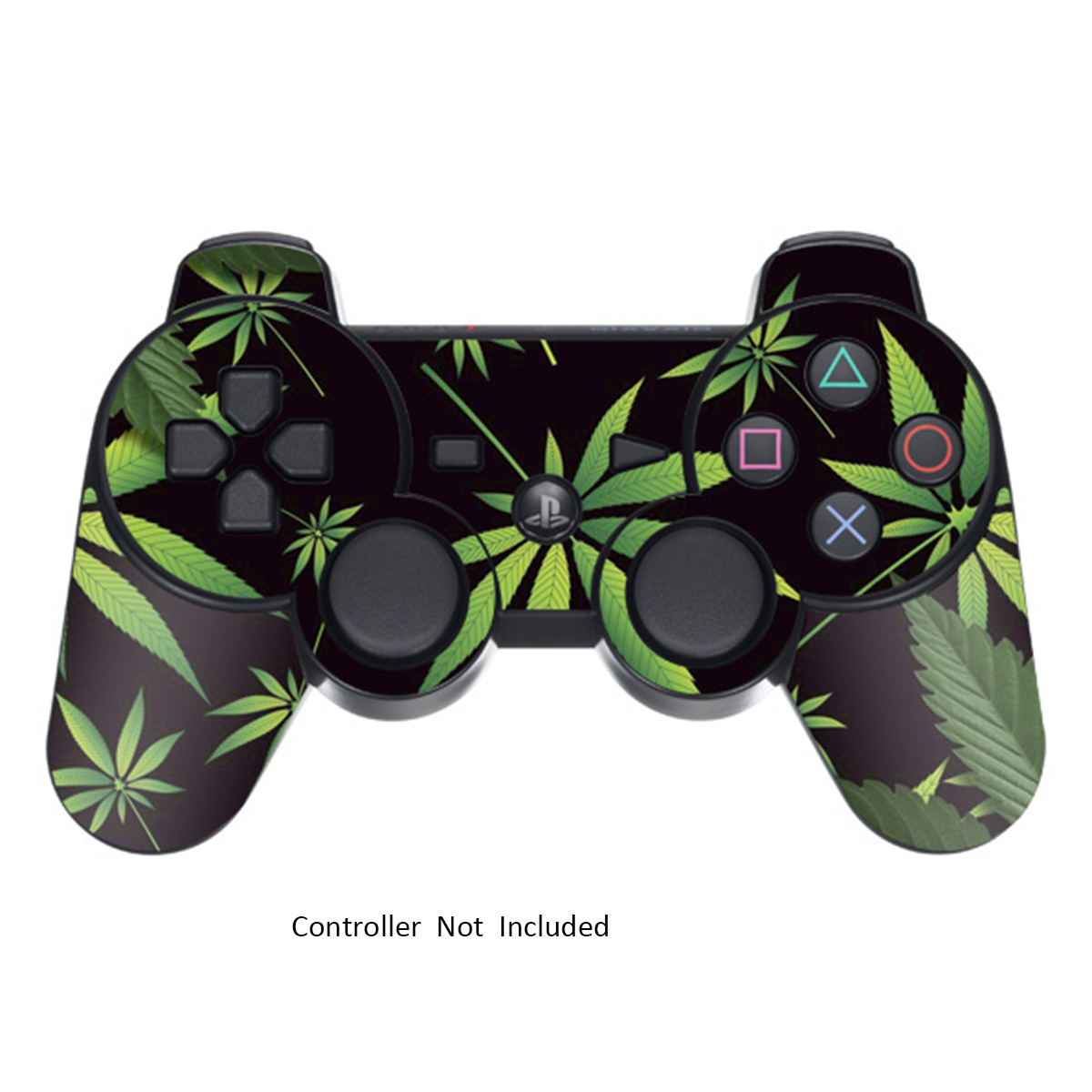 Skin Stickers for Playstation 3 Controller - Vinyl Sticker for DualShock 3 Wireless Game PS3 Sixaxis Controllers - Protectors Sticker Controller Decal Weeds Black