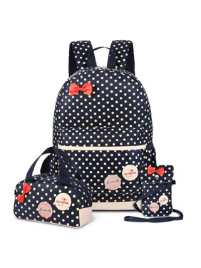 5e4bd9279 Product Image Vbiger Set 3 Polka Dot Waterproof Nylon Backpack Casual  Bookbags School Bags Shoulder Wallet Bag (