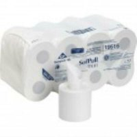 SofPull Mini White 2-Ply High-Capacity Centerpull Bathroom Tissue