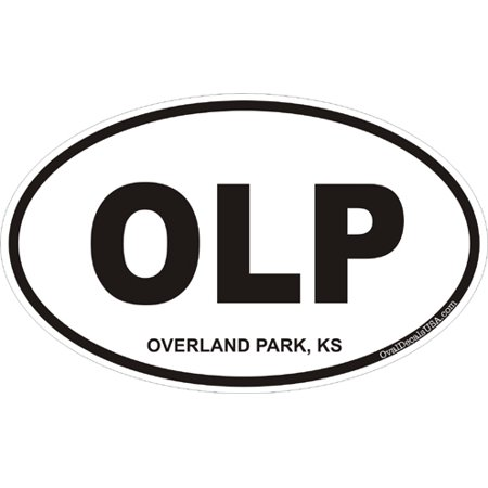 3.8 Inch Overland Park Kansas Oval Decal (Overland Passenger Car)