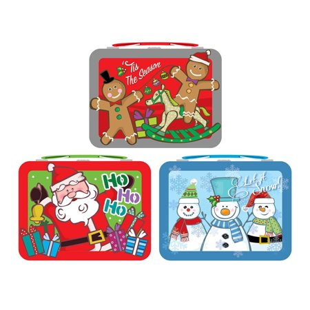 Lunch Box - Holiday Christmas - 2017 Small Metal Tin New (1 Only) tin974387-6