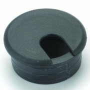 "2-1/2"" Cable Management Plastic Grommet, Black, 1ea"