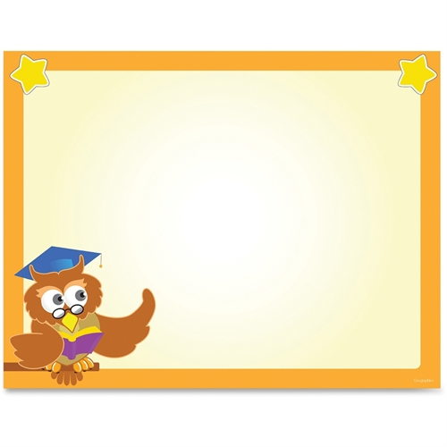 Geographics Wise Owl Border Certificates 49993