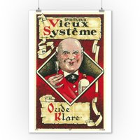 Vieux Systeme Wine Label (9x12 Art Print, Wall Decor Travel Poster)