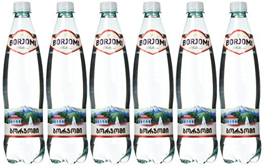 Borjomi Mineral Water 0.75 L. Pack of 6. Includes Our Exclusive HolanDeli Chocolate Mints. by
