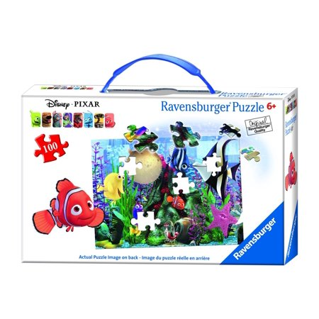 Ravensburger Disney Finding Nemo Hanging Around Puzzle in a Suitcase Box (100 Piece) ()