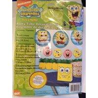 "Spongebob Squarepants Party-Time Decoration Kit, 3 Wall Cutouts 8"" By Designware,USA"