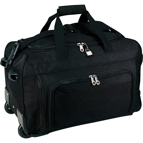 "Traveler's Choice 20"" Vanguard Rolling Carry-on Duffel, Black"