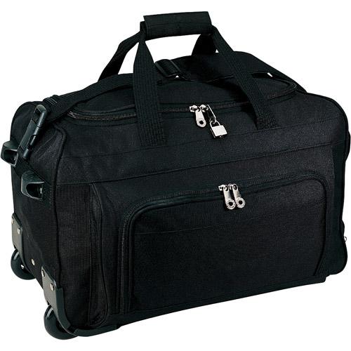 "Traveler's Choice 20"" Vanguard Rolling Carry-on Duffel, Black"