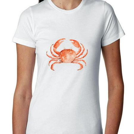 Big Graphic Of Maryland Chesapeake Bay Crab Womens Cotton T Shirt