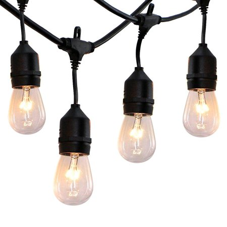 52 ft outdoor string lights commercial grade weatherproof ul 52 ft outdoor string lights commercial grade weatherproof ul listed heavy duty 24 hanging aloadofball Images