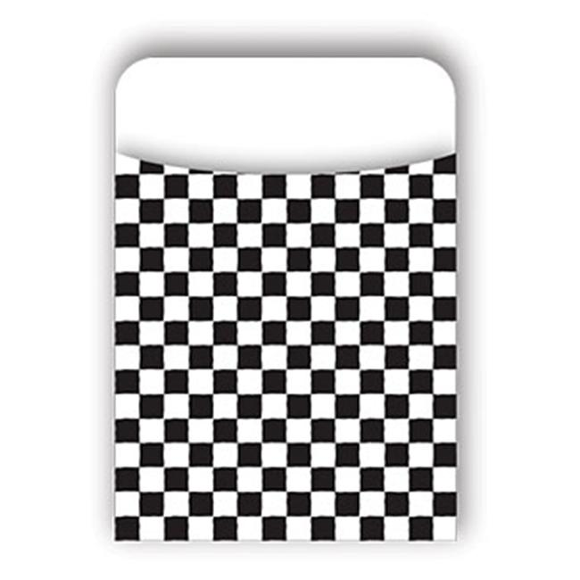 Barker Creek LL-1204L Library Pocket - Black Check