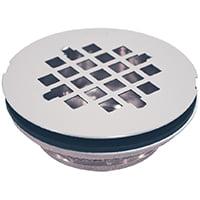 Oatey 42070 Shower Drain, Brass, Stainless Steel, For Preformed Shower Stall Bases
