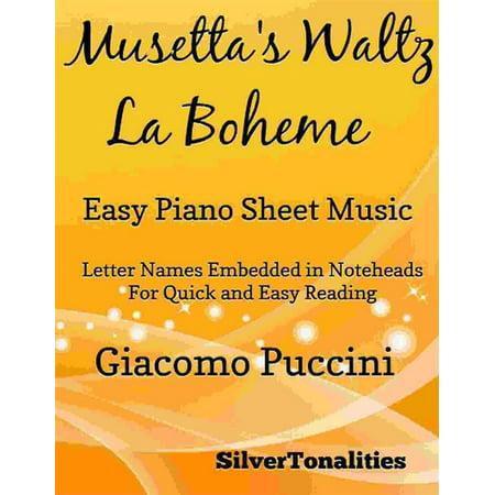 Musetta's Waltz La Boheme Easy Piano Sheet Music - (Elle A Fui La Tourterelle Sheet Music)