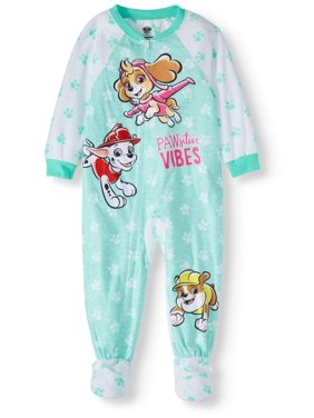 Paw Patrol Toddler Girl Microfleece Blanket Sleepers Pajamas