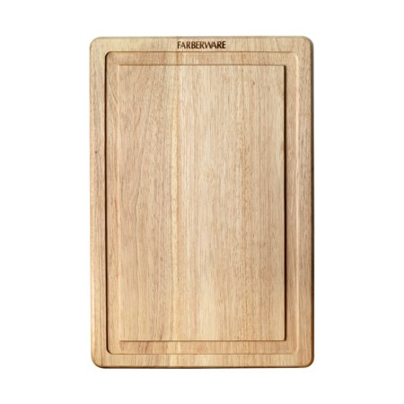 Farberware 12 Inch by 18 Inch Hardwood Drip Trench Cutting Board