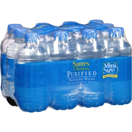Sams Choice Purified Drinking Water  10 Fl Oz  12 Pack