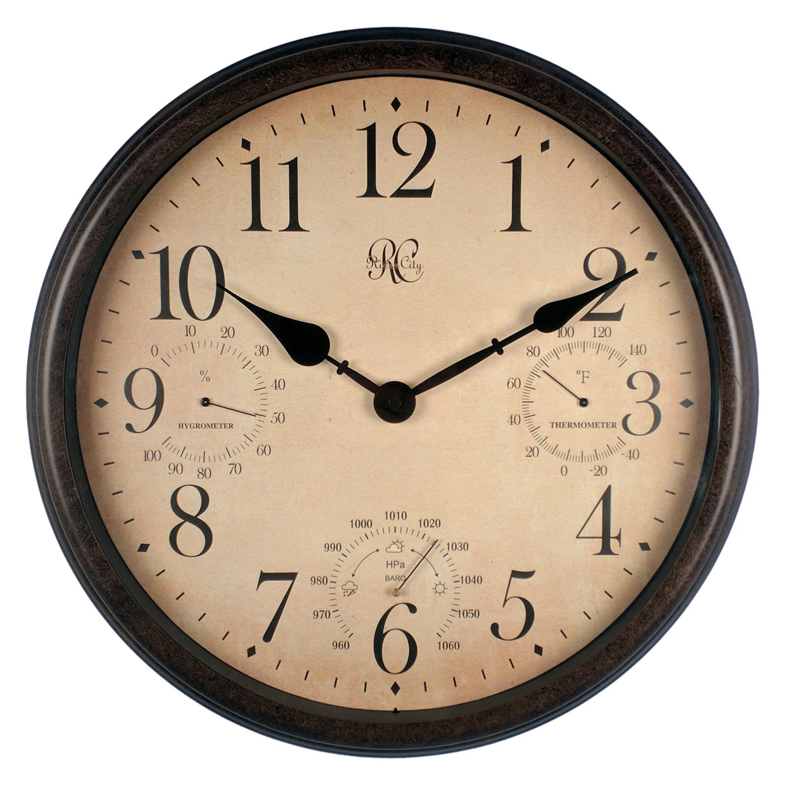 River City Clocks 16 in. Metal Outdoor Clock by River City Clocks