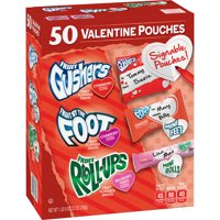 Valentine's Gushers, Fruit by the Foot, and Fruit Roll-Ups, Variety Pack, 50 ct