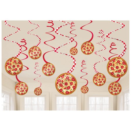 Pizza Party Swirl Decorations (12)](Pizza Party Decorations)