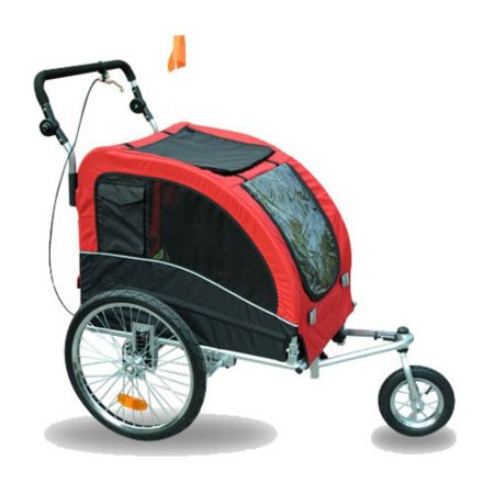 aosom elite ii pet dog bike bicycle trailer stroller. Black Bedroom Furniture Sets. Home Design Ideas