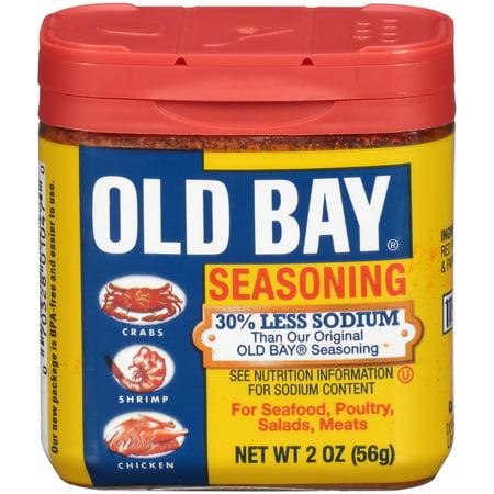 (2 Pack) OLD BAY 30% Less Sodium Seasoning, 2 OZ