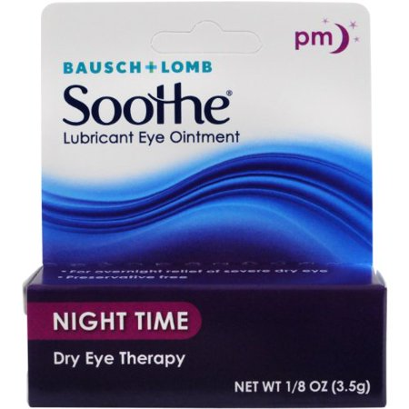 - 5 Pack Bausch & Lomb Lubricant Eye Ointment Night Time Dry Eye Therapy 1/8oz Ea