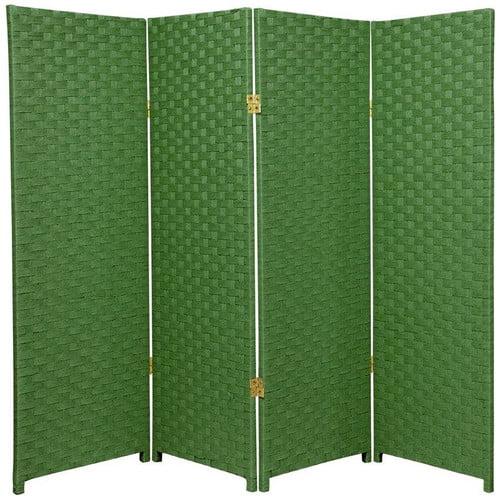Oriental Furniture 48'' x 64'' Woven Fiber 4 Panel Room Divider