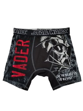 Star Wars Mens Black Darth Vader Useless To Resist Underwear Boxer Briefs