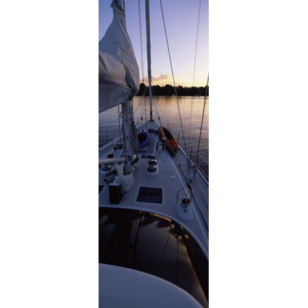 Sailboat In The Sea Kingdom Of Tongavavau Group Of Islands South Pacific Canvas Art   Panoramic Images  18 X 7