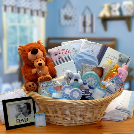 Gift Basket Drop Shipping 890111-B Deluxe Welcome Home Precious Baby Basket-Blue
