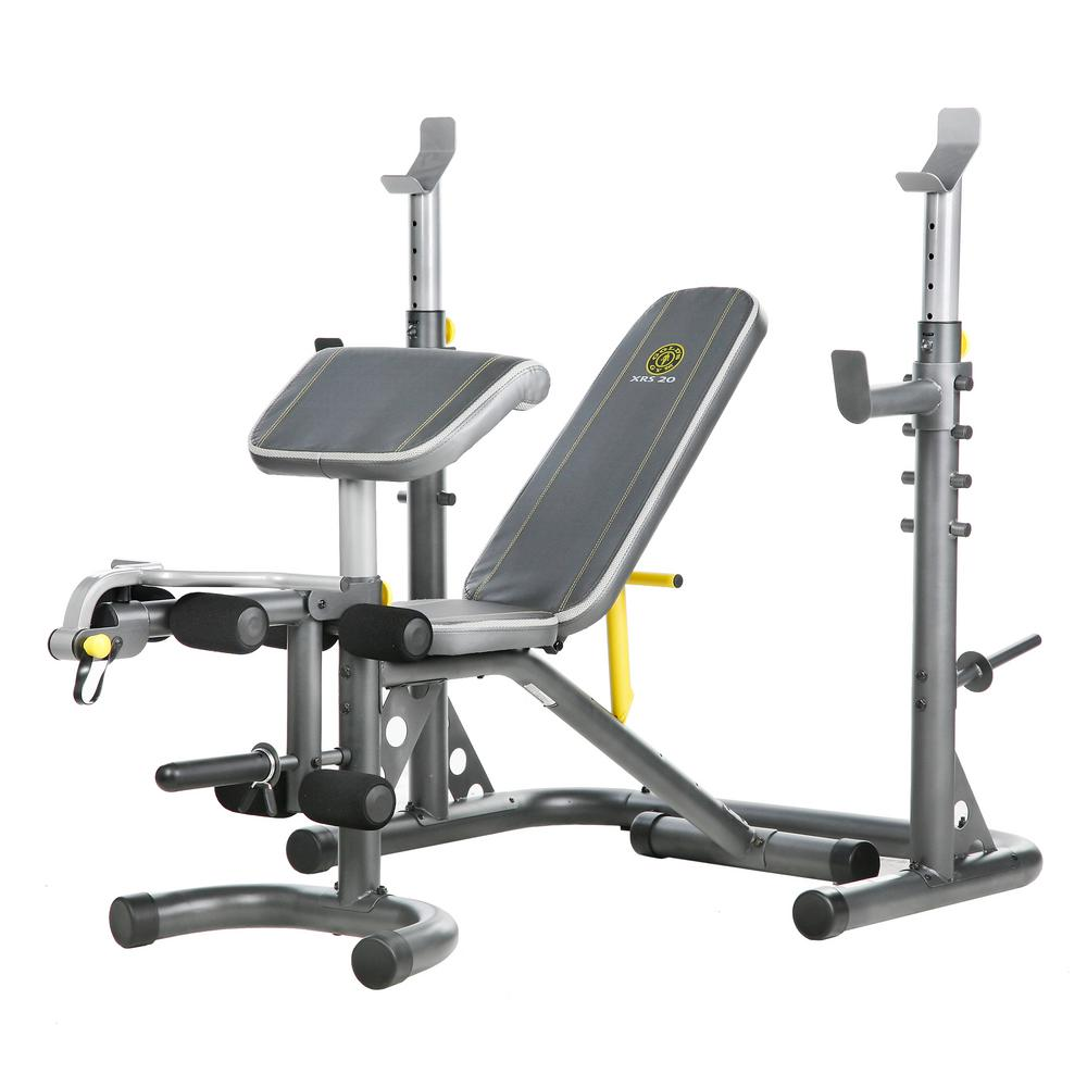 Goldu0027s Gym XRS 20 Olympic Workout Bench With Squat Rack