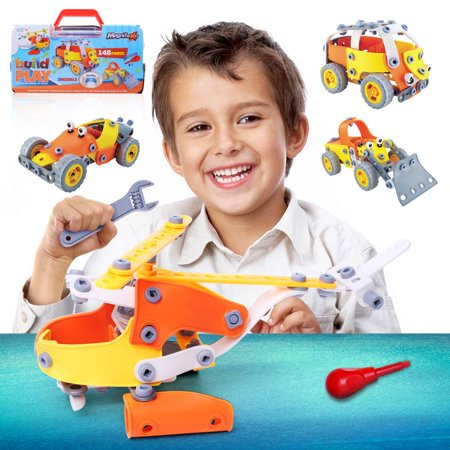 Magnifeko Building Set Educational Stem Toys for Boys And Girls Engineering Vehicle Set](Girls Engineering Toys)