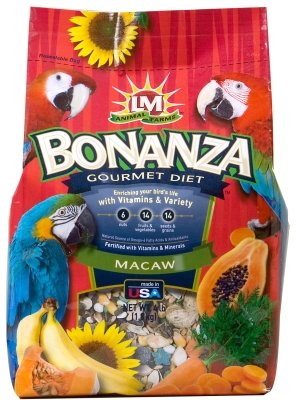 LM Animal Farms Bonanza Gourmet Diet Macaw Bird Food, 6 lb by L & M Animal Farms