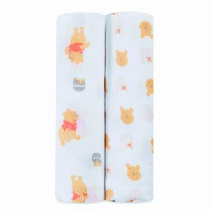 Ideal Baby by the Makers of Aden + Anais Swaddle 2 pack, Disney Pooh