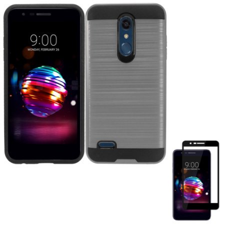 size 40 ae577 3b75c Phone Case for LG Xpression Plus; T-Mobile LG K30; LG Premier Pro; LG  Harmony 2; LG Phoenix Plus Tempered Glass Screen Dual layered Slim Brush  Cover ( ...