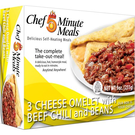 Chef 5 Minute Meals Omelet with Chili and Beans - Chef 5 Min