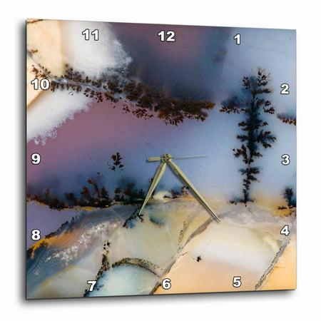 3dRose Nevada. Amethyst sage agate, natural pattern - US29 BJA0049 - Jaynes Gallery, Wall Clock, 15 by 15-inch