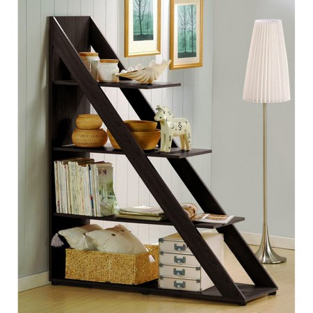 Sliding Interior Shelves (Wholesale Interiors Psinta Dark Brown Modern Shelving)