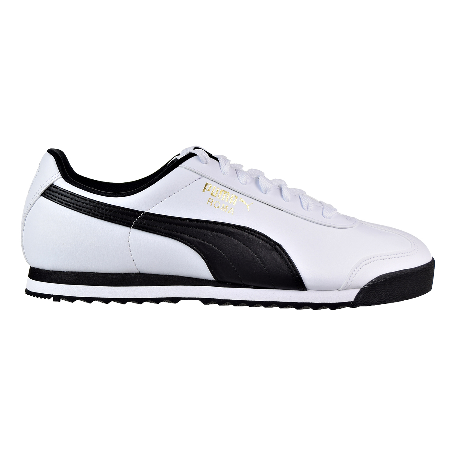 Puma Roma Basic Men's Shoes Puma White Puma Black 353572-04 by Puma