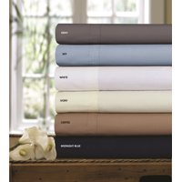 300 Thread Count Cotton Percale Solid Extra Deep Pocket Sheet Set