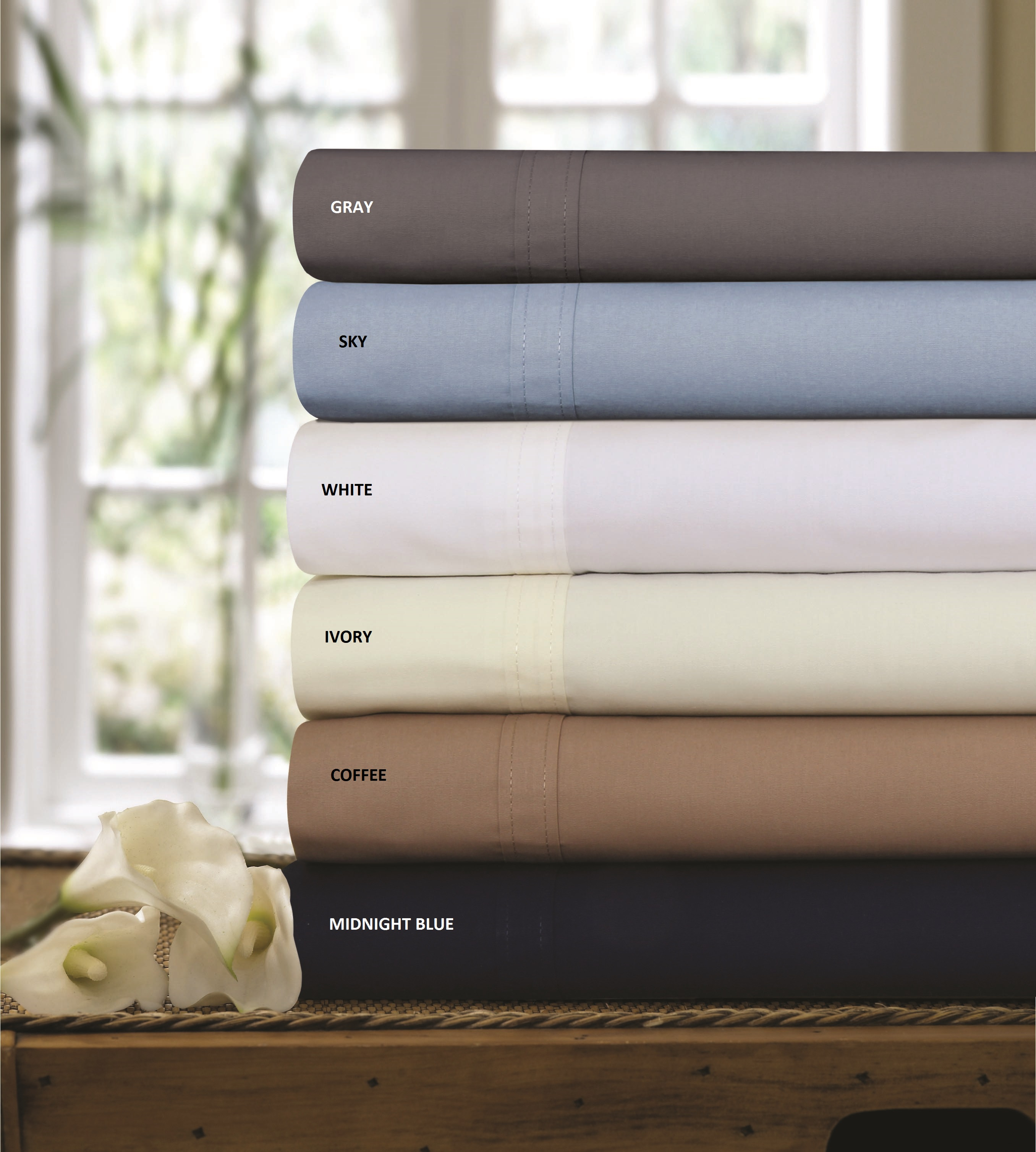 300 thread count cotton percale solid extra deep pocket sheet set - Thread Count Sheets
