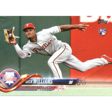 2018 Topps #226 Nick Williams Philadelphia Phillies Rookie Baseball Card