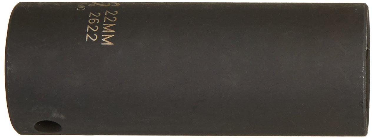 Sunex 2622 1//2-Inch Drive 22-Mm Extra Thin Wall Deep Impact Socket