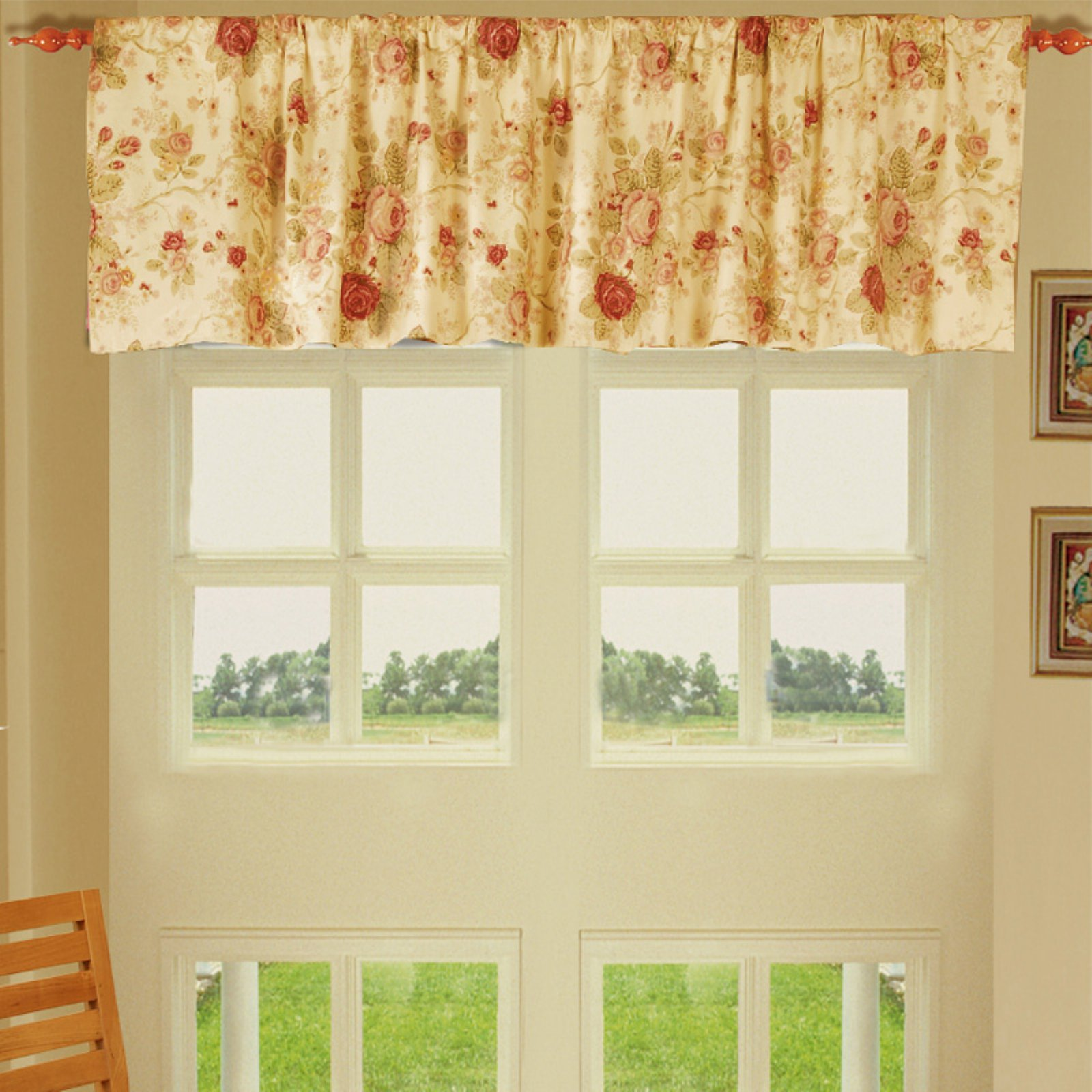 Greenland Home Fashions Antique Rose - Valance - 21L x 84W in.