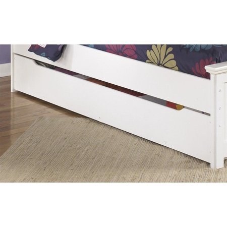 Signature Design By Ashley Furniture Zayley Trundle Under Bed Storage In White