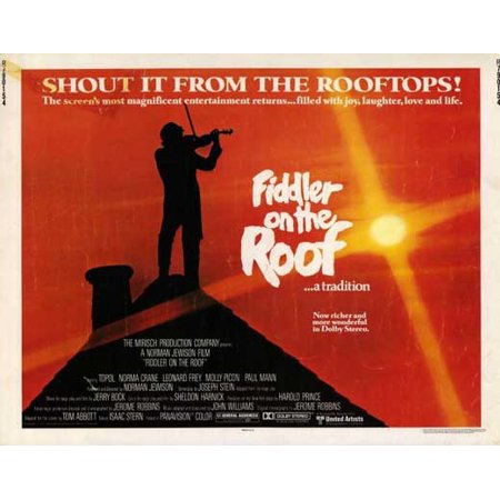 Fiddler on the Roof - movie POSTER (Half Sheet Style A) (22