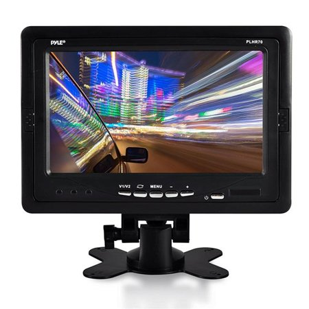 7 in. LCD Monitor with Headrest & Stand